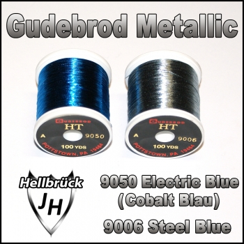 Gudebrod Metallic   Farbe: Electric Blue / Steel Blue