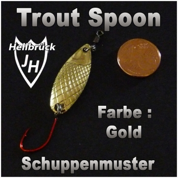 Spoon - Trout Fishing - Gold -